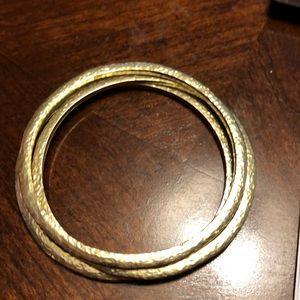 3/$40 SALE EUC Silpada brass trio bracelets